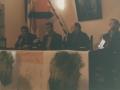 Antzuolako maparen aurkezpeneko prentsaurrekoa. Ezkerretik bigarrena, Luis Mari Zaldua, ikerlari urnietarra
