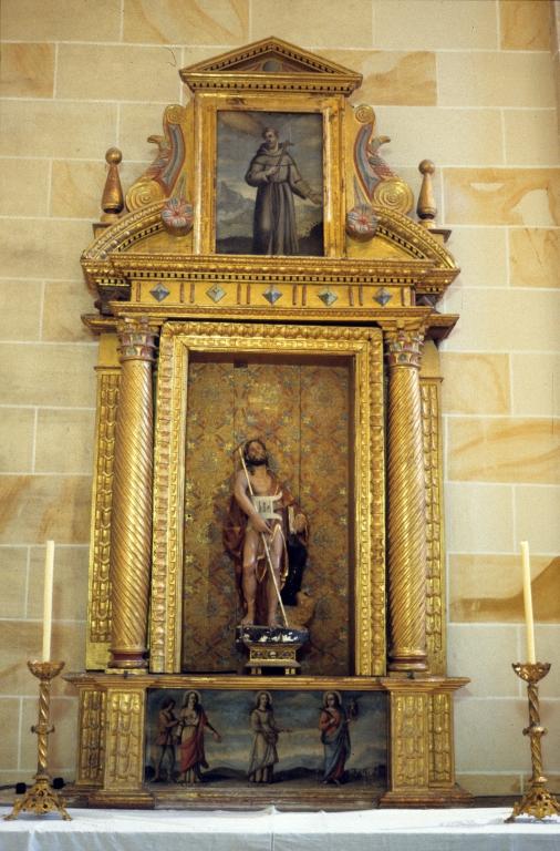 Santuario de Nuestra Señora de Dorleta. Retablo de San Juan Bautista
