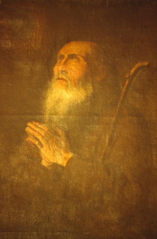 Iglesia parroquial de Nuestra Señora de la Asunción. Pintura. Santo orante