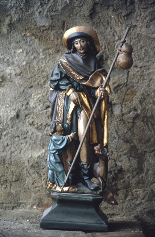 Ermita de San Sebastián de Elorriaga en Itziar. Escultura. San Roque