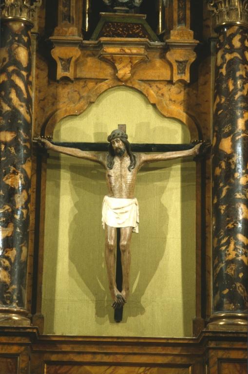 Iglesia parroquial de San Bartolomé de Oikina. Escultura. Cristo Crucificado