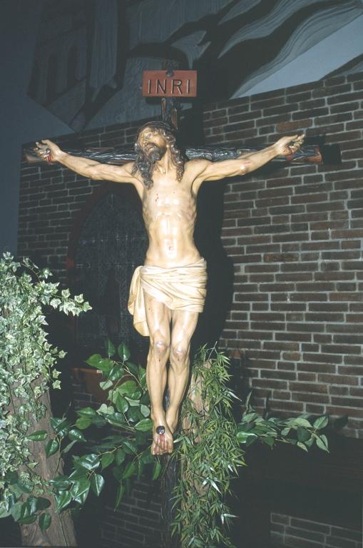 Iglesia parroquial de San Luis Gonzaga de Herrera. Escultura. Cristo Crucificado