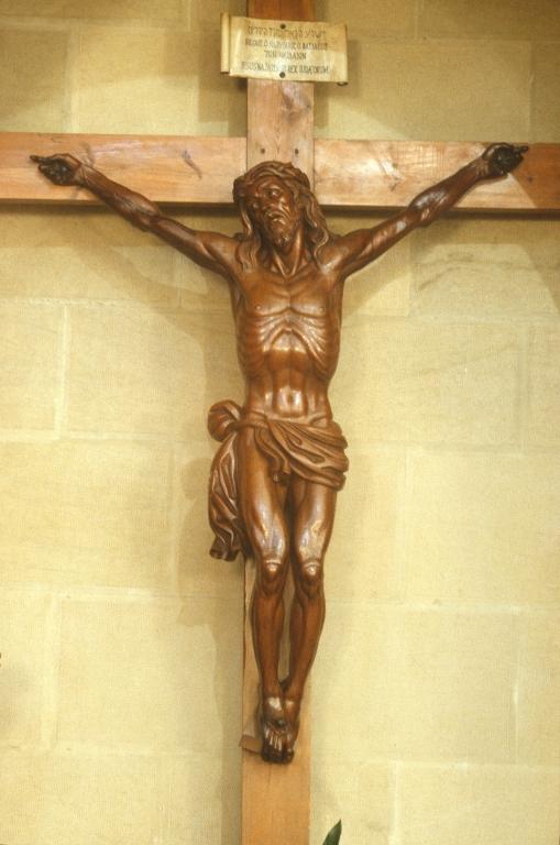 Iglesia parroquial de Nuestra Señora del Carmen de Añorga. Escultura. Cristo Crucificado