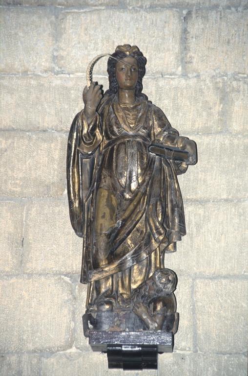 Iglesia parroquial de San Pedro de Igeldo. Escultura. Santa Catalina de Alejandría