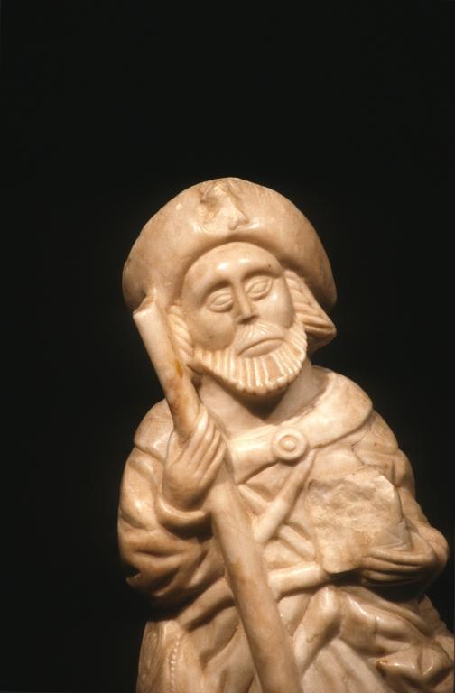 Museo Diocesano de San Sebastián. Escultura. Detalle de Santiago Peregrino