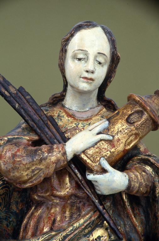 Museo Diocesano de San Sebastián. Escultura. Detalle de Santa Bárbara