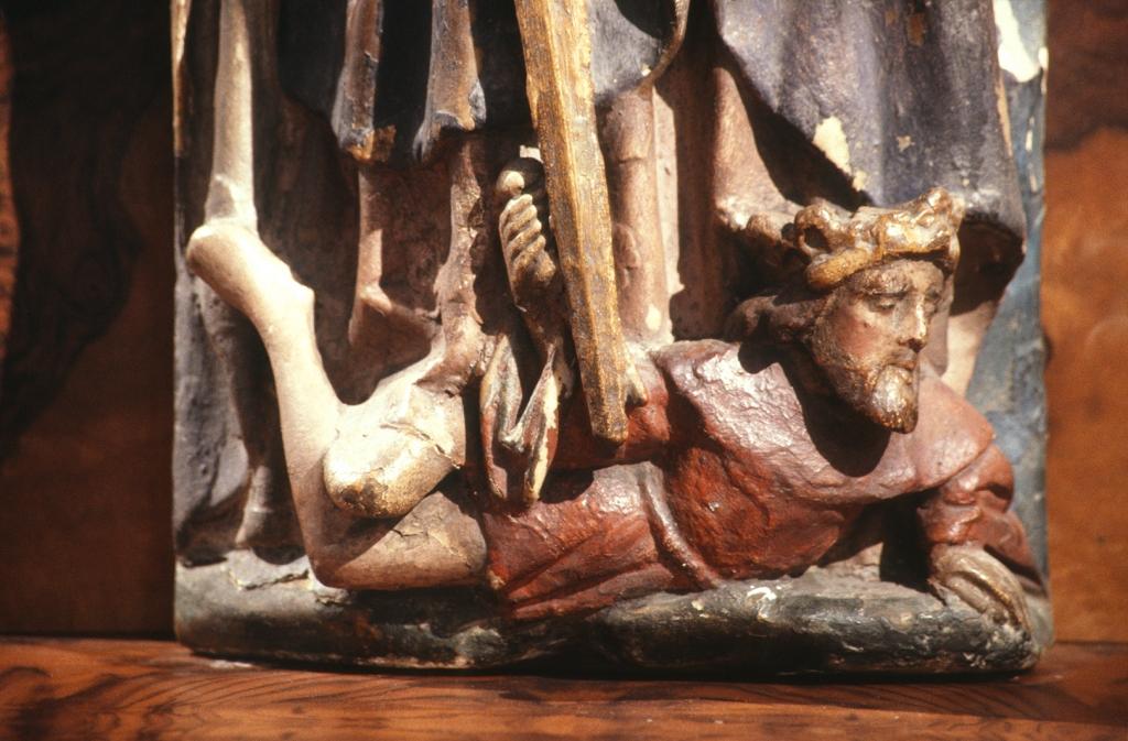 Museo Diocesano de San Sebastián. Escultura. Detalle de Santa Catalina de Alejandría