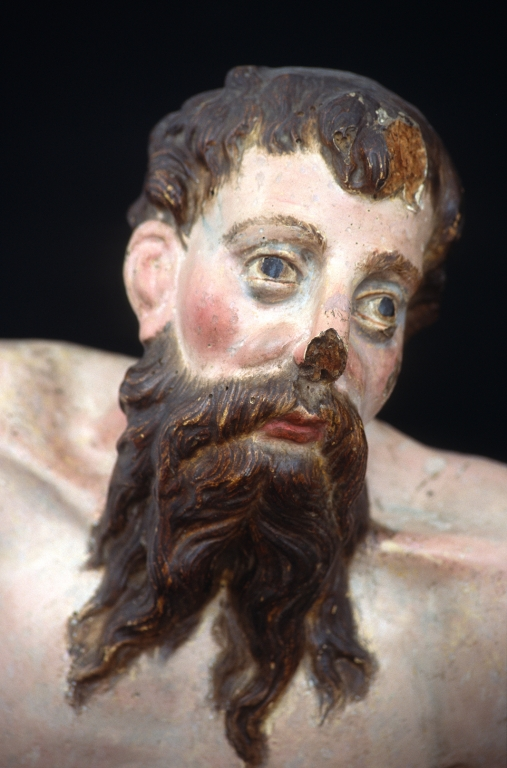 Museo Diocesano de San Sebastián. Escultura. Detalle de San Jerónimo