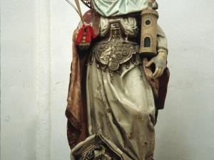 Iglesia parroquial de San Juan Bautista. Escultura. Santa Bárbara
