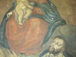Iglesia parroquial de San Martín de Tours. Pintura. Virgen del Rosario
