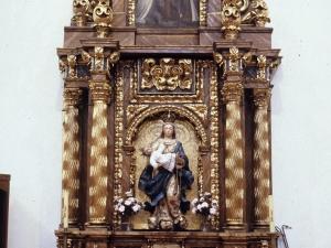 Iglesia parroquial de San Bartolomé. Retablo de la Virgen del Rosario