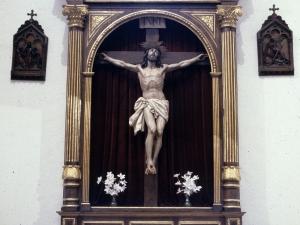 Iglesia parroquial de San Bartolomé. Retablo de Cristo Crucificado
