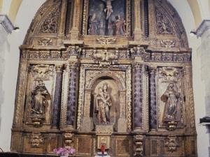 Iglesia parroquial de Nuestra Señora del Rosario de Ugarte. Retablo de la Virgen del Rosario