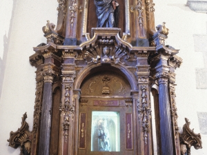 Iglesia parroquial de Nuestra Señora del Rosario de Ugarte. Retablo de Andra Mari