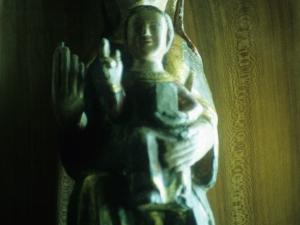 Iglesia parroquial de Nuestra Señora del Rosario de Ugarte. Escultura. Andra Mari