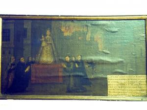 Iglesia parroquial de San Juan Bautista. Pintura. Milagro de Nuestra Señora del Rosario