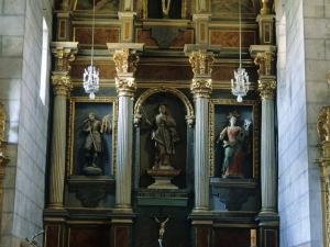 Iglesia parroquial de Santa Eulalia de Bedoña. Retablo de Santa Eulalia