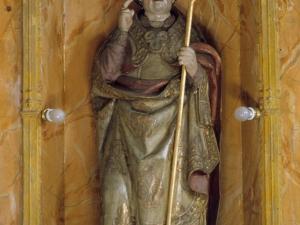 Ermita de San Valerio de Veneras. Escultura. San Valerio