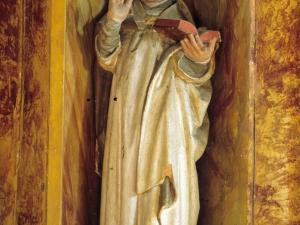 Ermita de San Valerio de Veneras. Escultura. Santo obispo