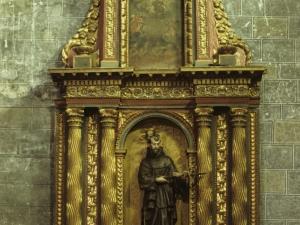 Iglesia parroquial de San Pedro. Retablo de San Francisco de Asís
