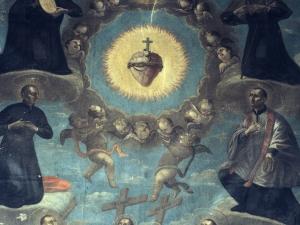 Iglesia parroquial de San Pedro. Pintura. Santos jesuitas