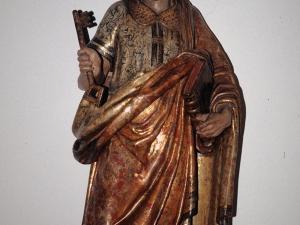 Iglesia parroquial de San Pedro apóstol de Izurieta. Escultura. San Pedro