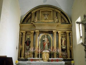 Iglesia parroquial de Santa Lucía de Galartza. Retablo de Santa Lucía