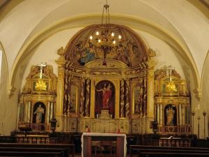 Iglesia parroquial de San Cristóbal de Larrino. Retablo de San Cristóbal