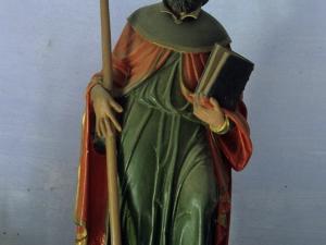 Iglesia parroquial de Santiago Apóstol de Goroeta. Escultura. Santiago Peregrino