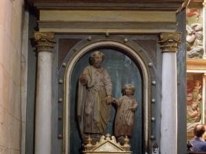 Iglesia parroquial de Santiago Apóstol de Goroeta. Escultura. San Joaquín