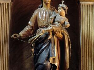 Iglesia parroquial de Santiago Apóstol de Goroeta. Escultura. Virgen del Rosario
