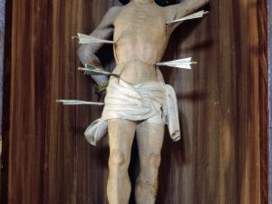 Iglesia parroquial de la Natividad de Areantza. Escultura. San Sebastián