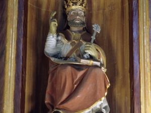 Iglesia parroquial de la Natividad de Areantza. Escultura. San Pedro