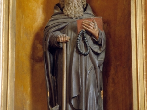 Iglesia parroquial de San Juan Bautista de Aozaratza. Escultura. San Antón