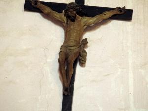 Iglesia parroquial de San Juan Bautista de Aozaratza. Escultura. Cristo Crucificado