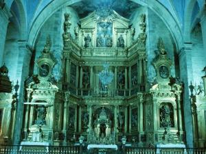 Iglesia parroquial de San Martín. Retablo de San Martín de Tours
