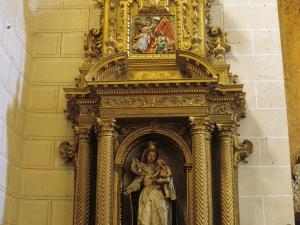 Iglesia parroquial de San Pedro. Retablo de la Virgen del Rosario
