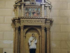Iglesia parroquial de San Pedro. Retablo de San Luis Gonzaga