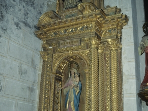 Iglesia parroquial de San Juan Bautista. Retablo de la Virgen del Rosario