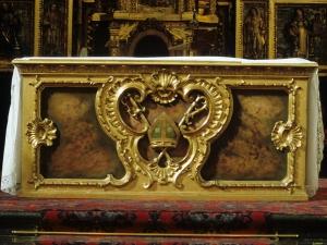 Iglesia parroquial de San Martín de Tours. Mesa de altar