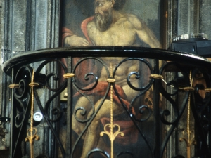 Iglesia parroquial de San Martín de Tours. San Jerónimo. Pintura sobre tabla