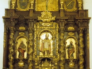 Iglesia parroquial de San Martín de Tours de Sorabilla. Retablo de San Martín de Tours