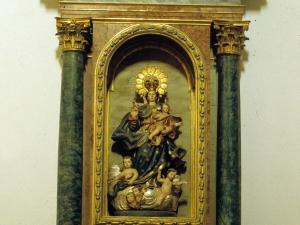 Iglesia parroquial de San Martín de Tours de Sorabilla. Retablo de la Virgen del Rosario