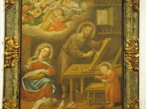 Iglesia parroquial de San Martín de Tours de Sorabilla. Pintura. Sagrada Familia