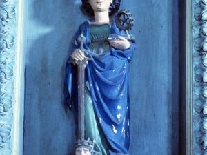 Ermita de San Marcial de Lizarraga. Escultura. Santa Catalina de Alejandría