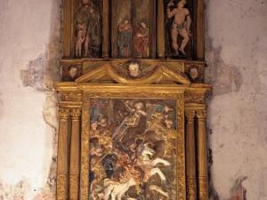 Ermita de Santiagomendi. Retablo de Santiago Matamoros