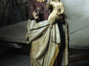 Iglesia parroquial de San Sebastián de Soreasu. Escultura. Virgen con niño