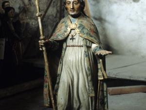 Iglesia parroquial de San Sebastián de Soreasu. Escultura. San Gregorio