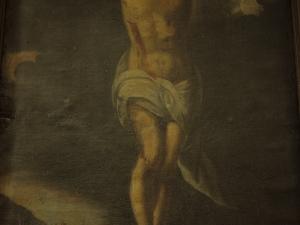 Iglesia parroquial de San Isidro de Aratz-Erreka. Pintura. Cristo Crucificado