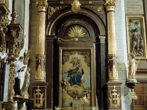 Iglesia parroquial de la Natividad de Urrestilla. Retablo de la Virgen del Rosario